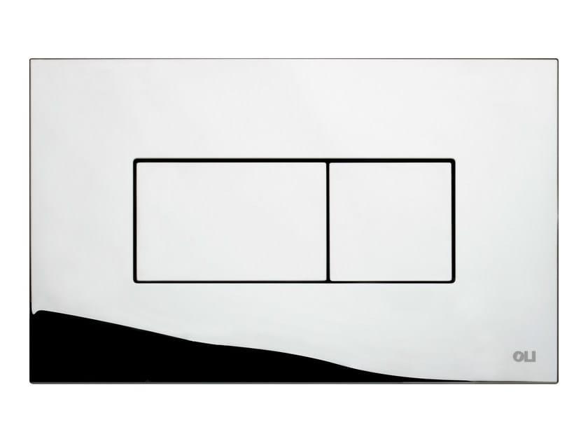 Glossy steel flush plate KARISMA | Glossy steel flush plate by OLI