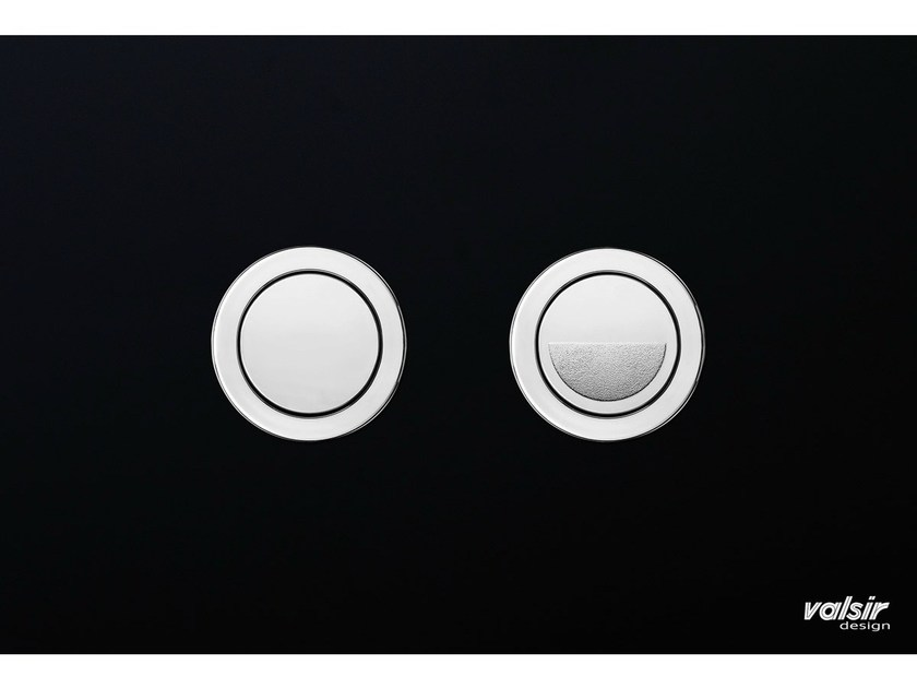 Tempered glass flush plate CRYSTAL BLACK BRILLANT by Valsir