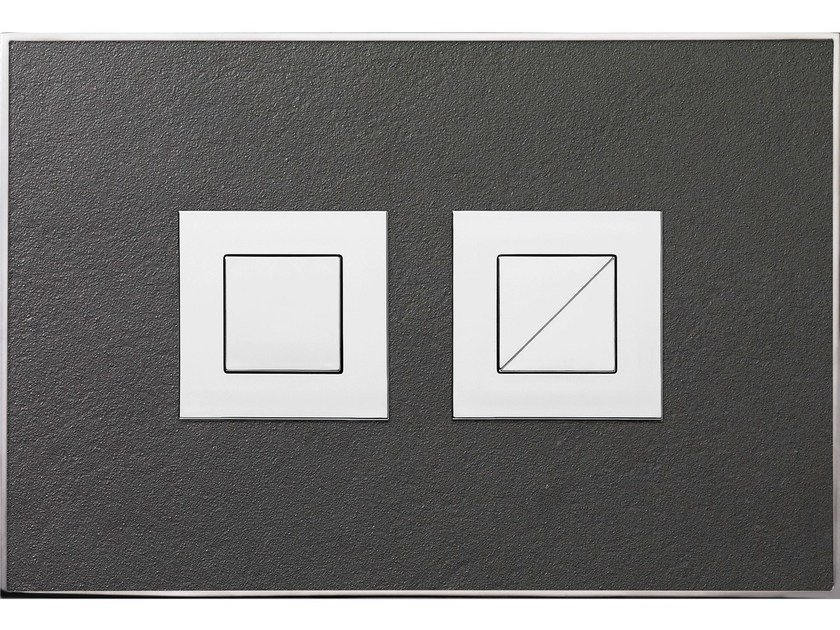 Natural stone flush plate STONE ANTHRACITE POLISHED by Valsir