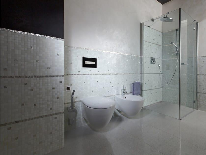 OCEANIA | Placca di comando per wc in acciaio inox e vetro
