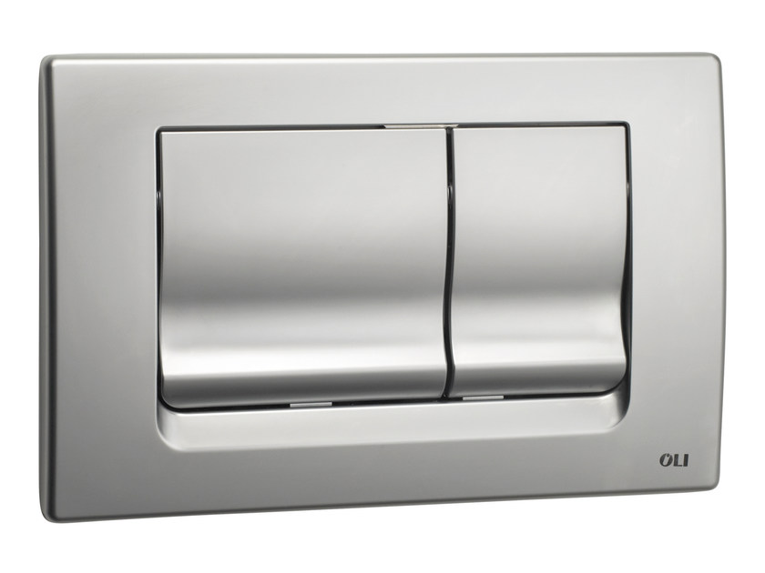 Brushed steel flush plate RIA | Brushed steel flush plate by OLI