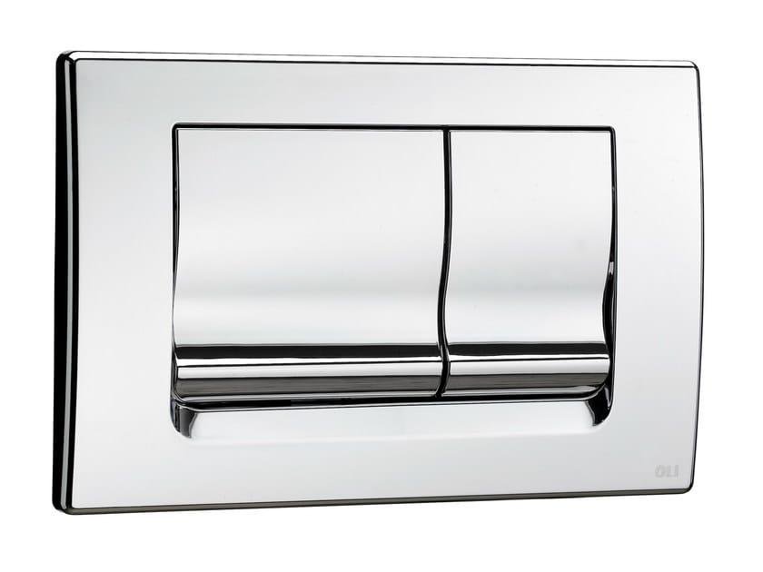 Glossy steel flush plate RIA | Glossy steel flush plate by OLI