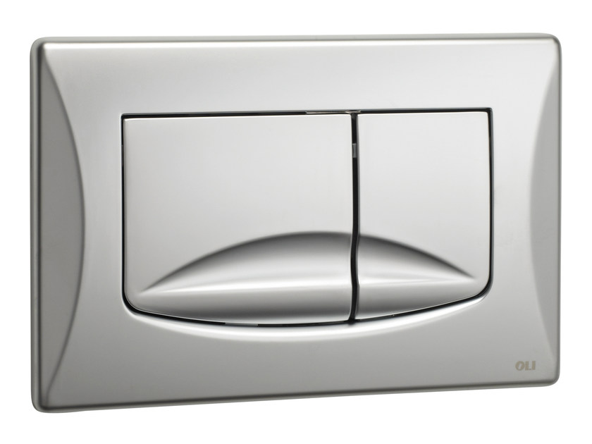 Brushed steel flush plate RIVER DUAL | Brushed steel flush plate by OLI
