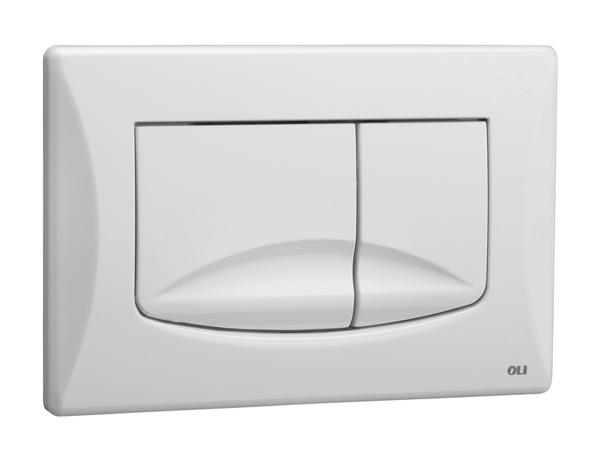 ABS flush plate RIVER DUAL WHITE by OLI