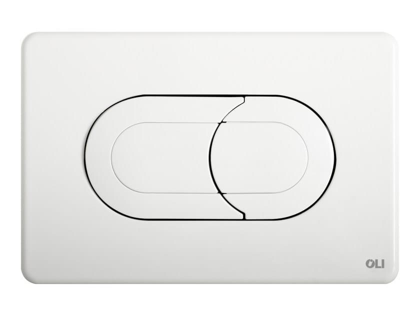 ABS flush plate SALINA WHITE by OLI