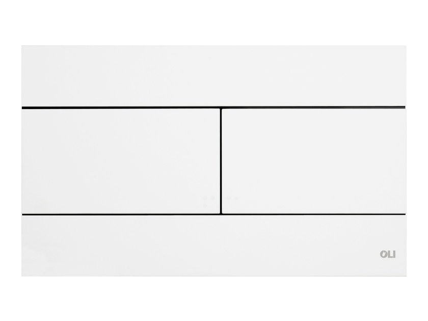 ABS flush plate SLIM WHITE by OLI