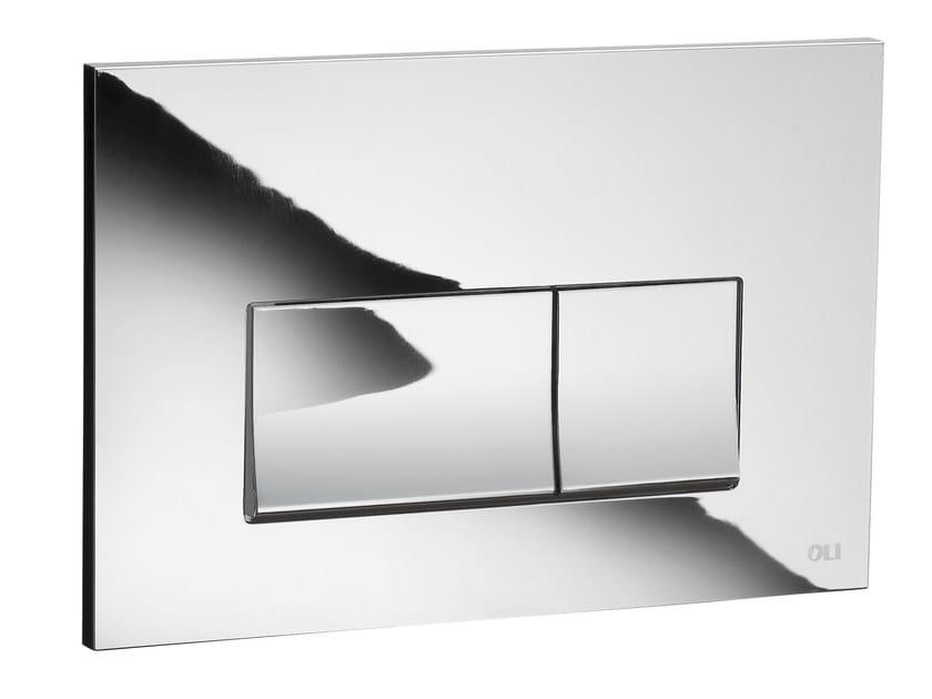 Glossy steel flush plate STREAM | Glossy steel flush plate by OLI