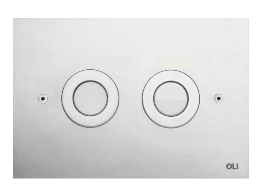 Brushed steel flush plate TREND | Brushed steel flush plate by OLI