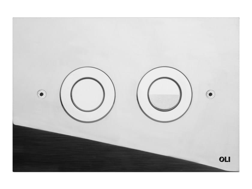 Glossy steel flush plate TREND | Glossy steel flush plate by OLI