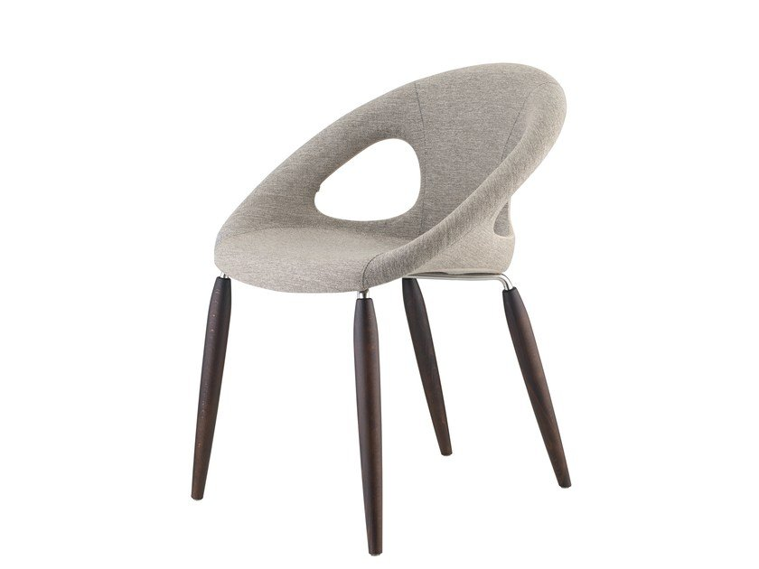 Upholstered fabric chair NATURAL DROP POP by SCAB DESIGN