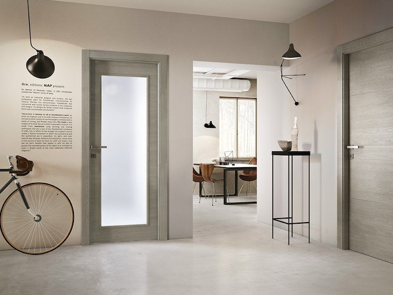 Hinged wood and glass door AVIO | Wood and glass door by GIDEA
