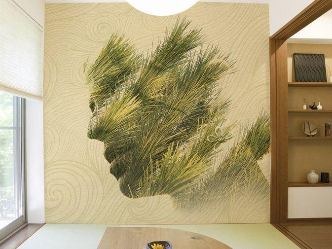 Washable vinyl wallpaper REFLEXIVE PINE by GLAMORA