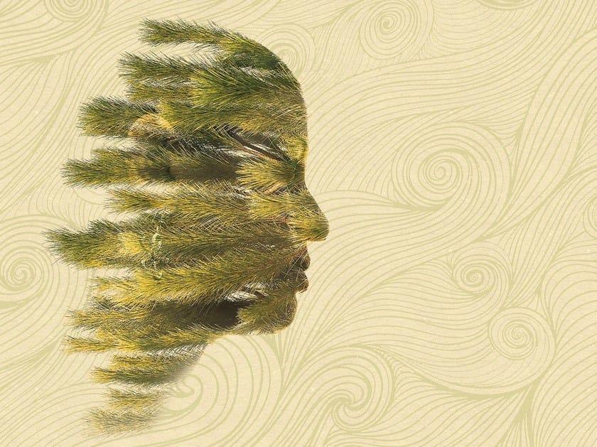 Washable vinyl wallpaper WINDY MEDITATION by GLAMORA