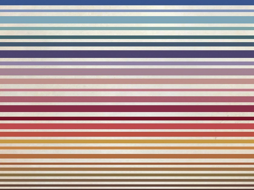 Striped vinyl wallpaper STRIPS by GLAMORA