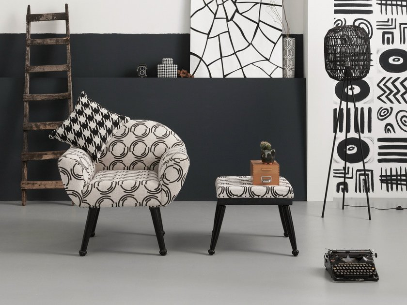 Fabric armchair with armrests PICASSIMO by KARE-DESIGN