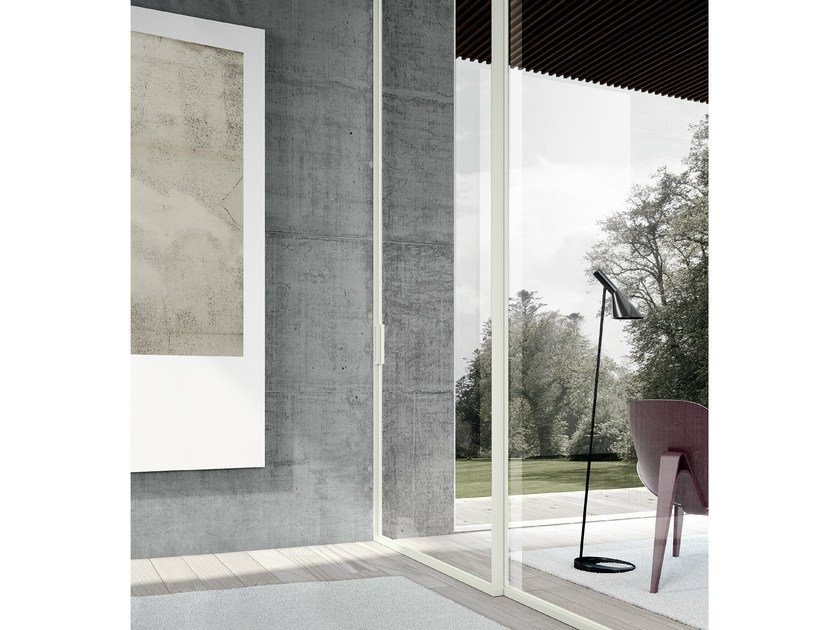 Glass sliding door MODO | Sliding door by MOVI ITALIA
