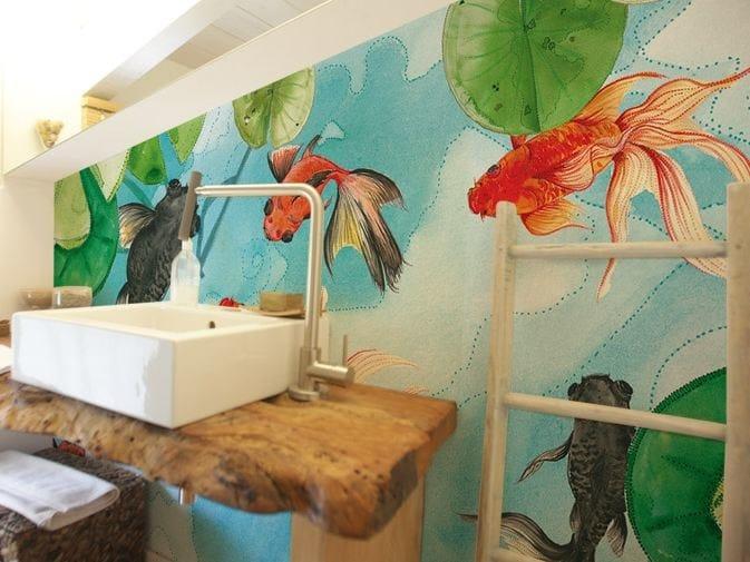 Washable vinyl wallpaper GOLDFISH by GLAMORA