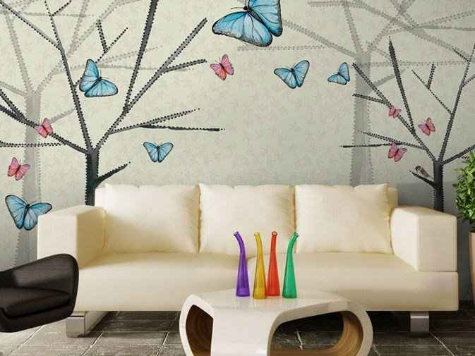 Washable vinyl wallpaper BUTTERFLY by GLAMORA