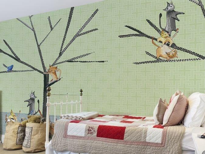Washable vinyl wallpaper CATS by GLAMORA