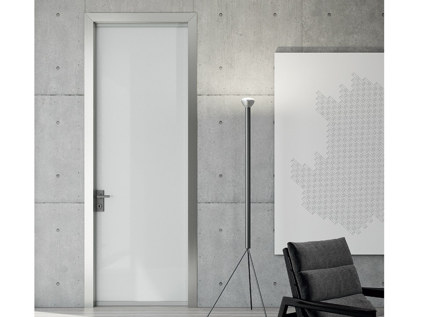 Hinged crystal and steel door LESS | Hinged door by MOVI ITALIA