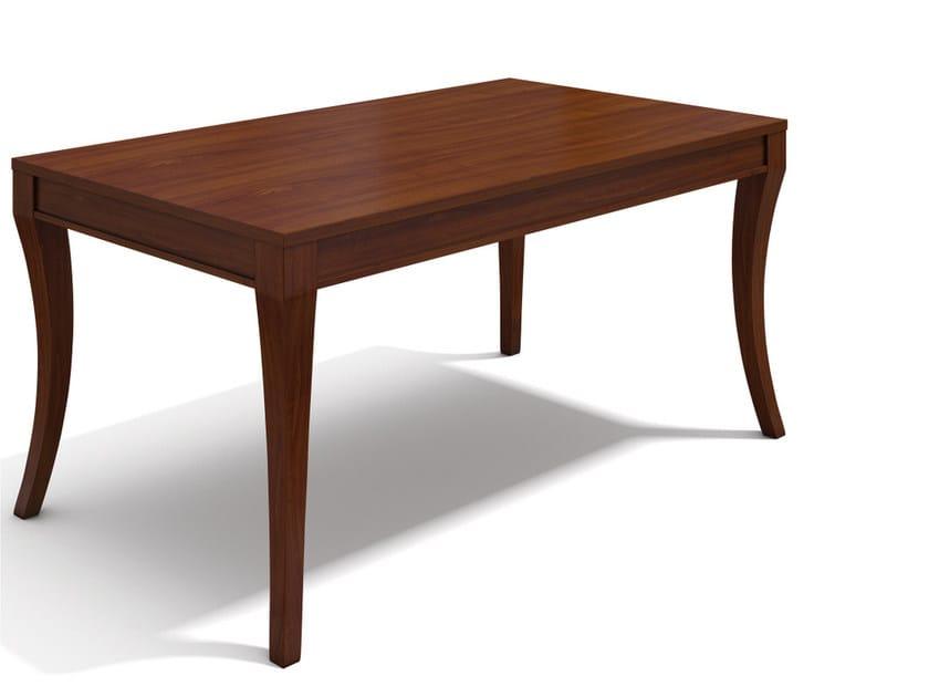 Extending rectangular wooden table VARIA PATRICIA by SELVA
