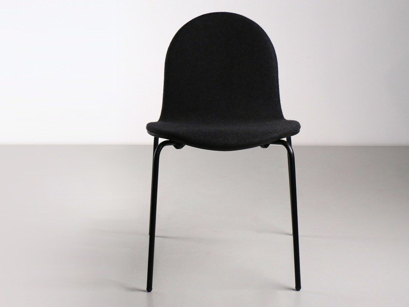 Upholstered stackable chair NORMA | Upholstered chair by Branca Lisboa