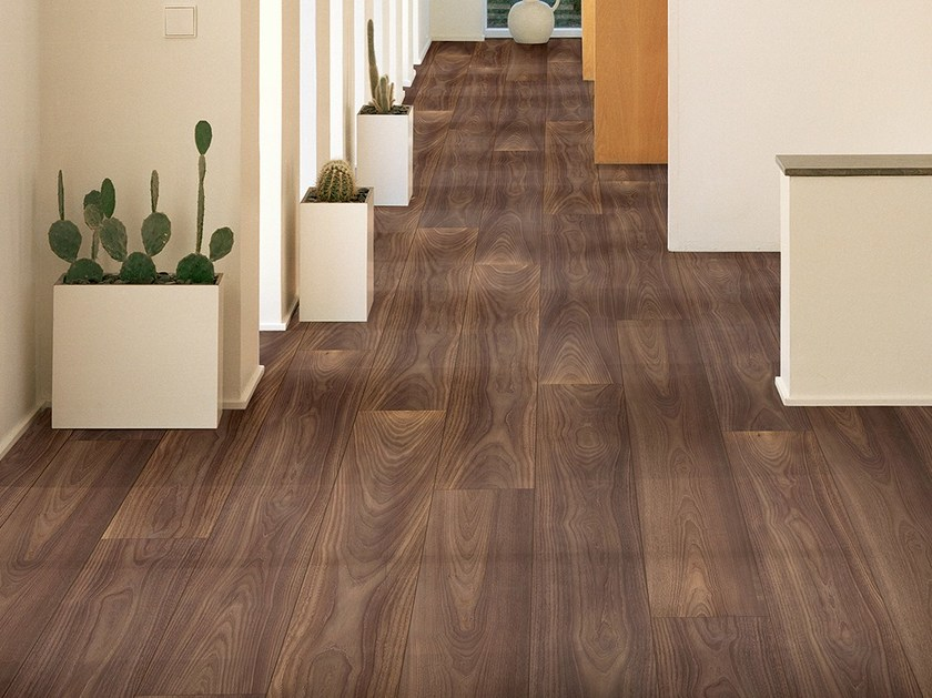 Laminate flooring with wood effect ALPINE WALNUT by Pergo