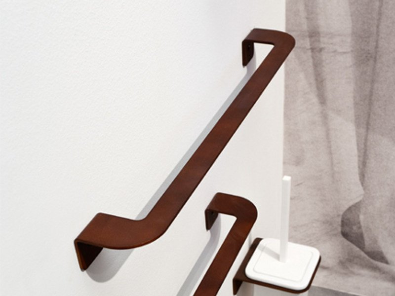 Corten™ towel rail PIEGA | Towel rack by Edoné by Agorà Group