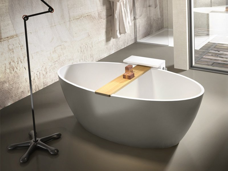Vasca da bagno ovale in stonematt space by edoné by agorà group