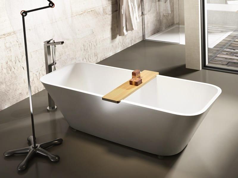 Rectangular Stonematt bathtub ALFA ESSENTIAL by Edoné by Agorà Group