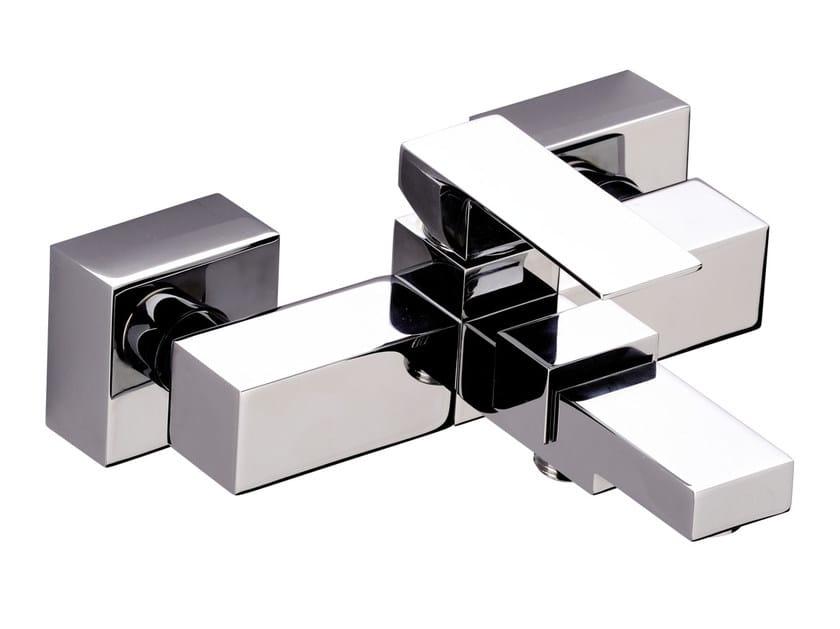 Wall-mounted chromed brass bathtub mixer SKYLINE | Wall-mounted bathtub mixer by Daniel Rubinetterie