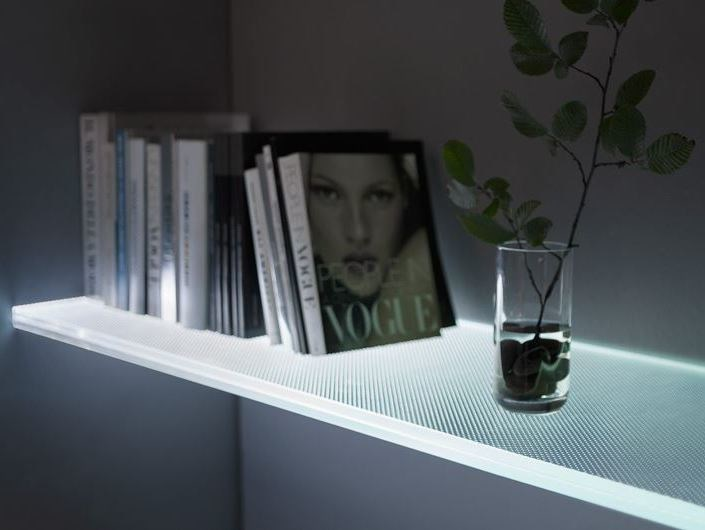 Glass wall shelf SOLIDLIGHT by OmniDecor®