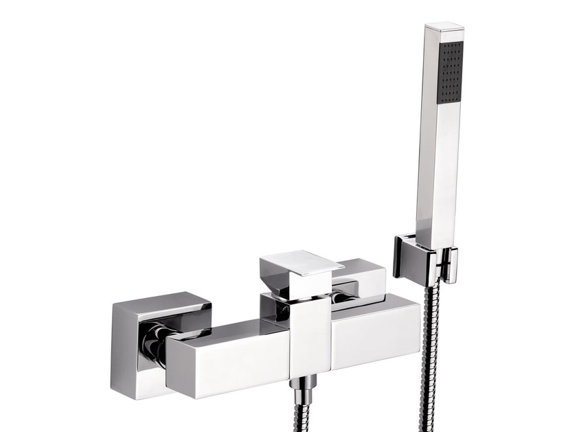 Chrome-plated shower mixer with hand shower SKYLINE | Shower mixer with hand shower by Daniel Rubinetterie