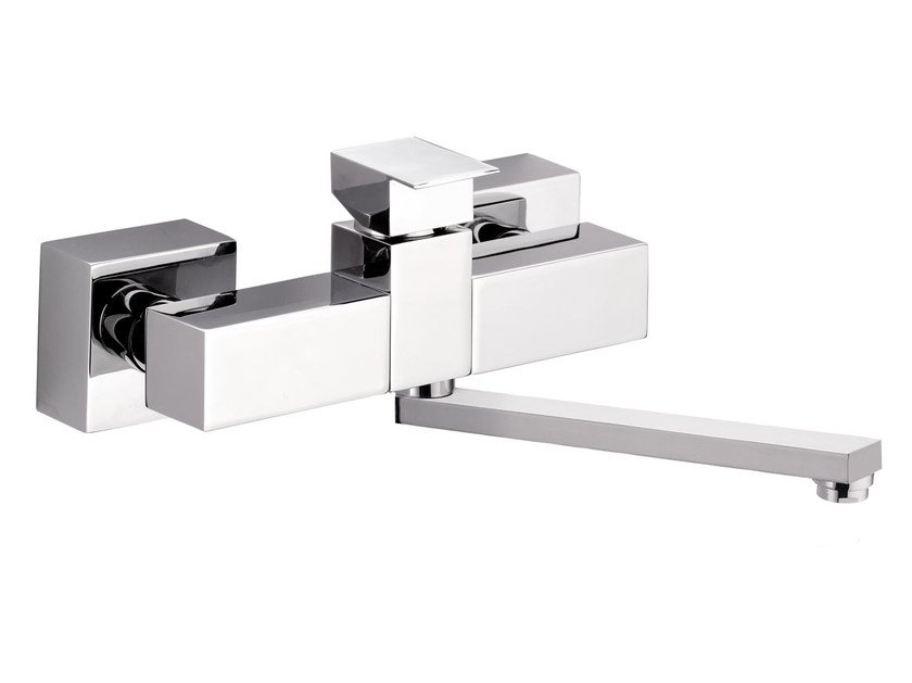 Wall-mounted kitchen mixer tap with swivel spout SKYLINE | Wall-mounted kitchen mixer tap by Daniel Rubinetterie