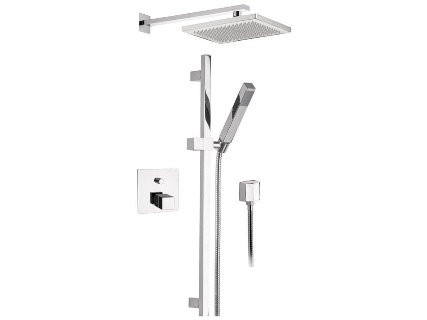 Thermostatic shower mixer with overhead shower SKYLINE | Thermostatic shower mixer by Daniel Rubinetterie
