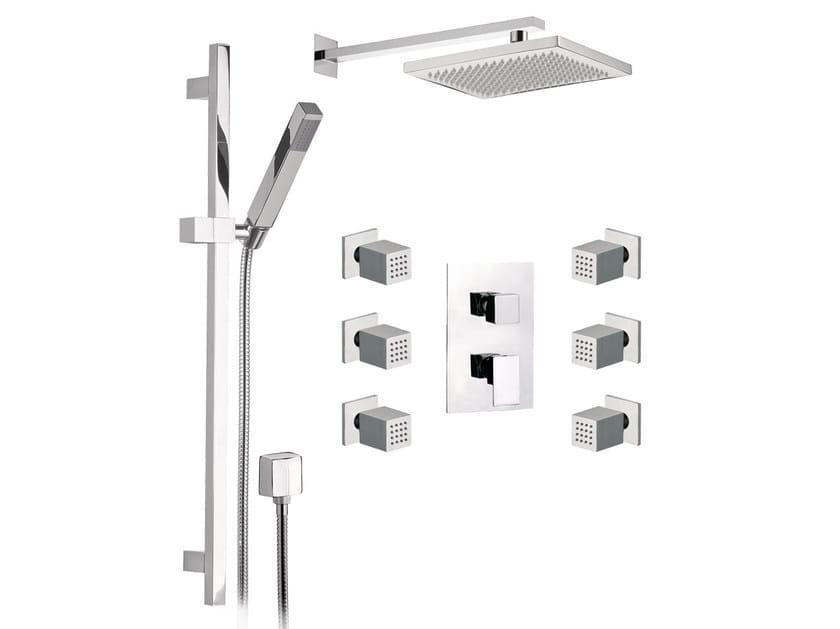Shower wallbar with hand shower SKYLINE   Shower wallbar with hand shower by Daniel Rubinetterie