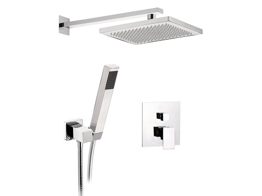 Shower mixer with hand shower with overhead shower SKYLINE | Shower mixer with overhead shower by Daniel Rubinetterie