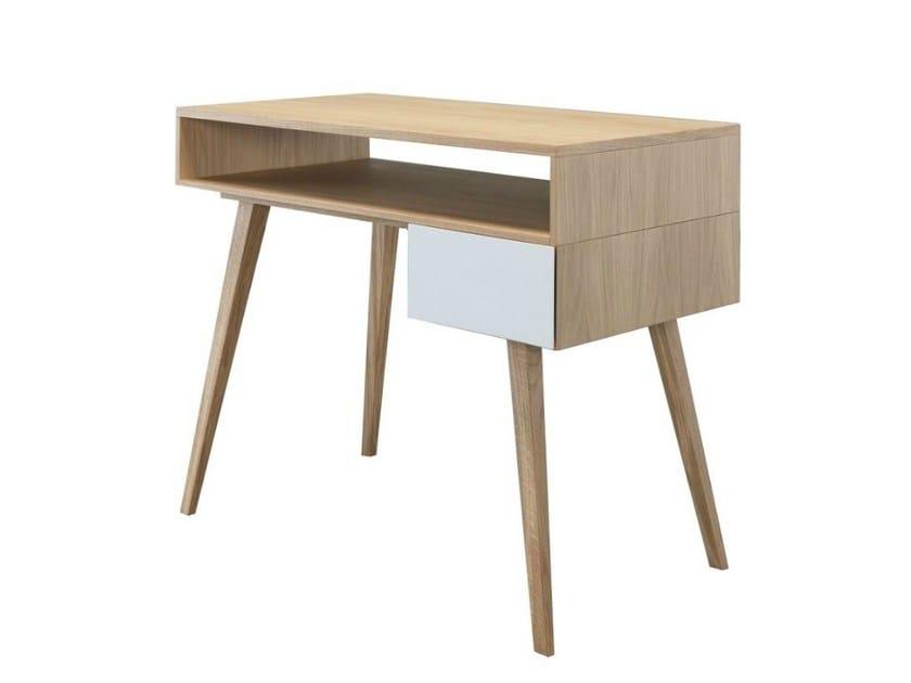 Rectangular wood veneer writing desk CASTELO by AZEA