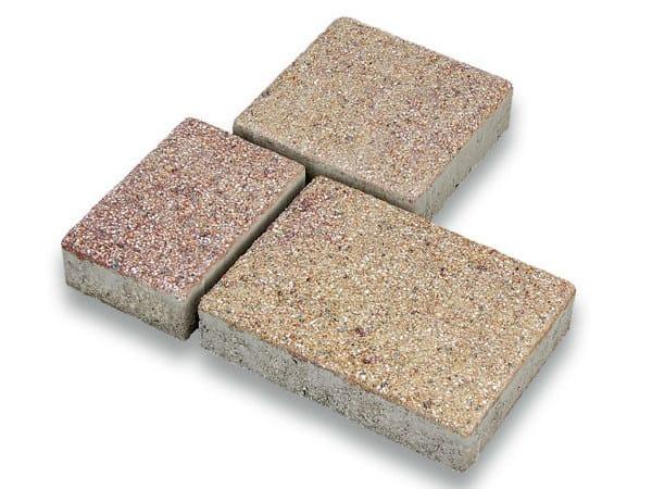Concrete paving block CORSO® ROMANO by Tegolaia