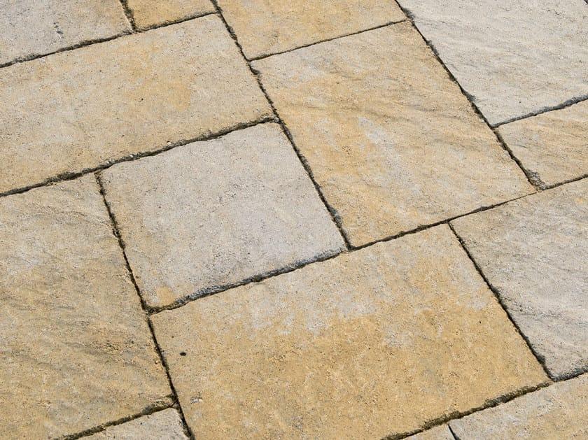 Concrete paving block FENICE® BURATTATO by Tegolaia