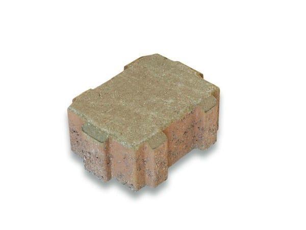 Concrete paving block DRAINANTICO by Tegolaia