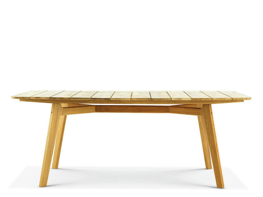 Rectangular teak garden table KNIT | Rectangular table by Ethimo
