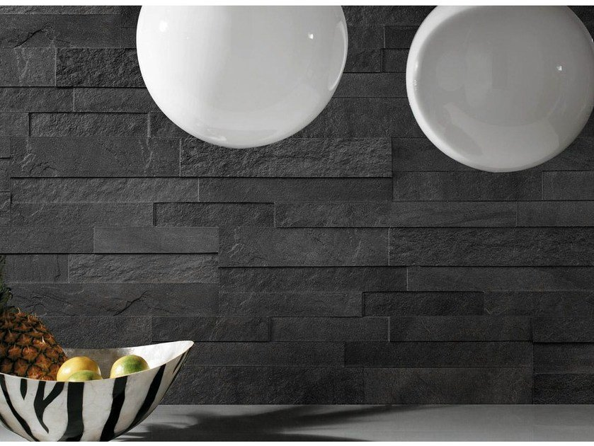 Porcelain stoneware wall tiles with stone effect STOCKHOLM by Supergres