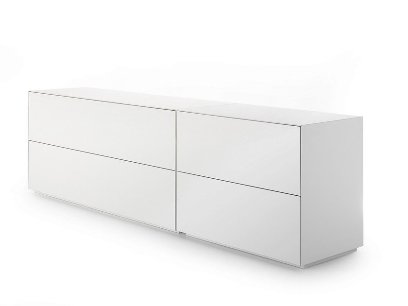 Lacquered MDF sideboard with drawers INMOTION | Sideboard with drawers by MDF Italia