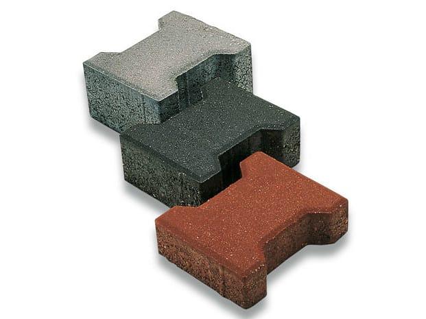 Concrete paving block DOPPIO T by Tegolaia