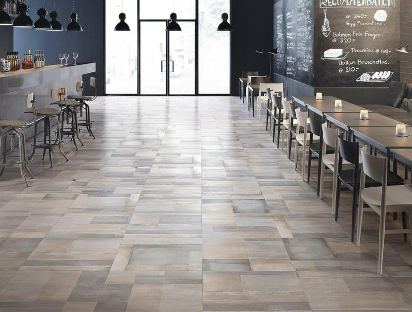Porcelain stoneware flooring with concrete effect CARNABY by Supergres
