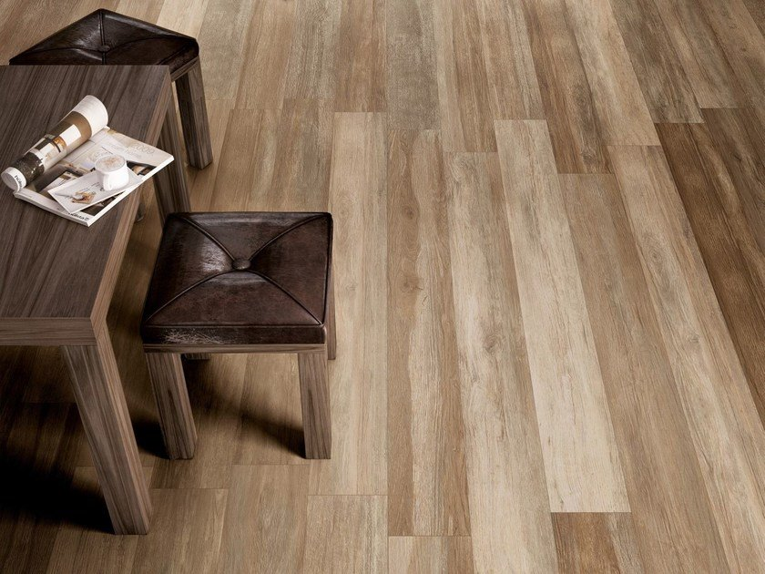 Indoor/outdoor porcelain stoneware flooring with wood effect TRAVEL by Supergres