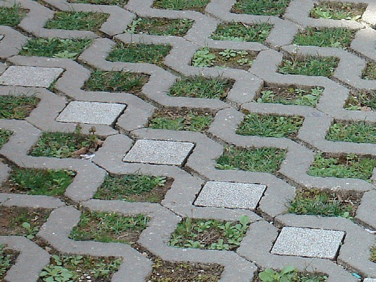 Concrete paving block QUADRETTO by Tegolaia