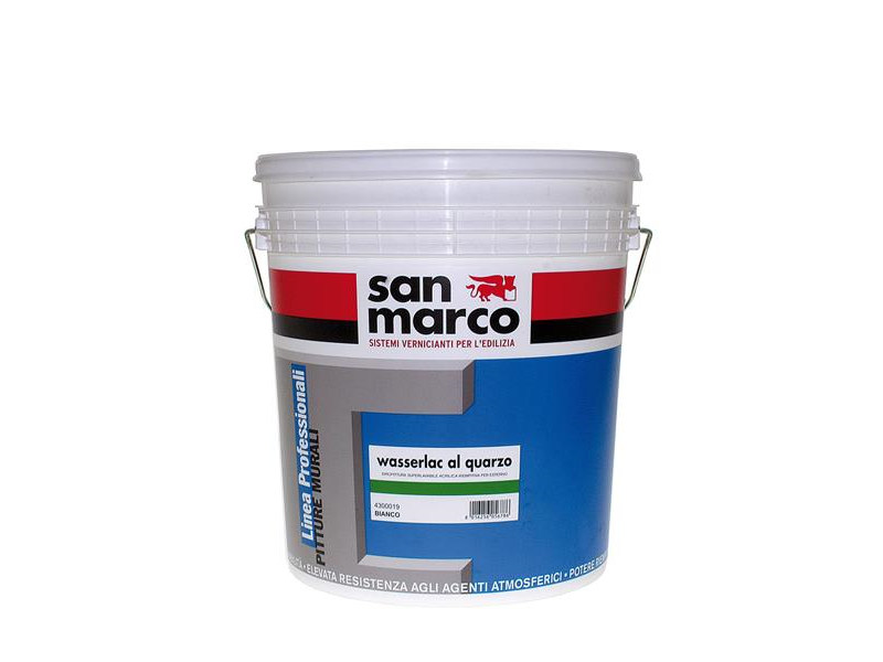 Washable water-based paint WASSERLAC AL QUARZO by San Marco