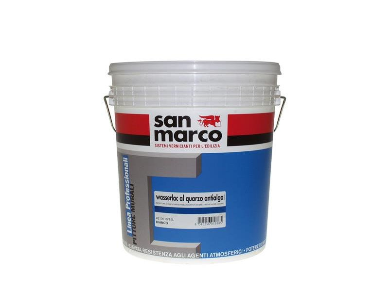 Washable water-based paint WASSERLAC AL QUARZO ANTIALGA by San Marco